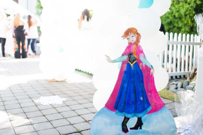 Anna standee from an Elegant Frozen Birthday Party on Kara's Party Ideas | KarasPartyIdeas.com (37)