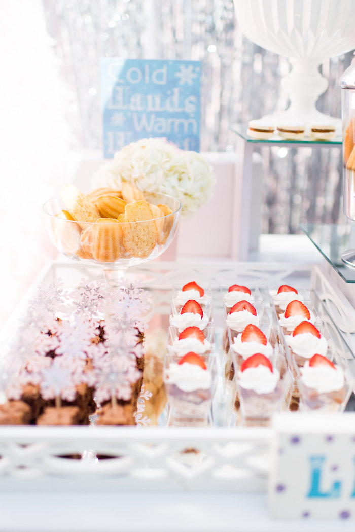 Desserts from an Elegant Frozen Birthday Party on Kara's Party Ideas | KarasPartyIdeas.com (35)