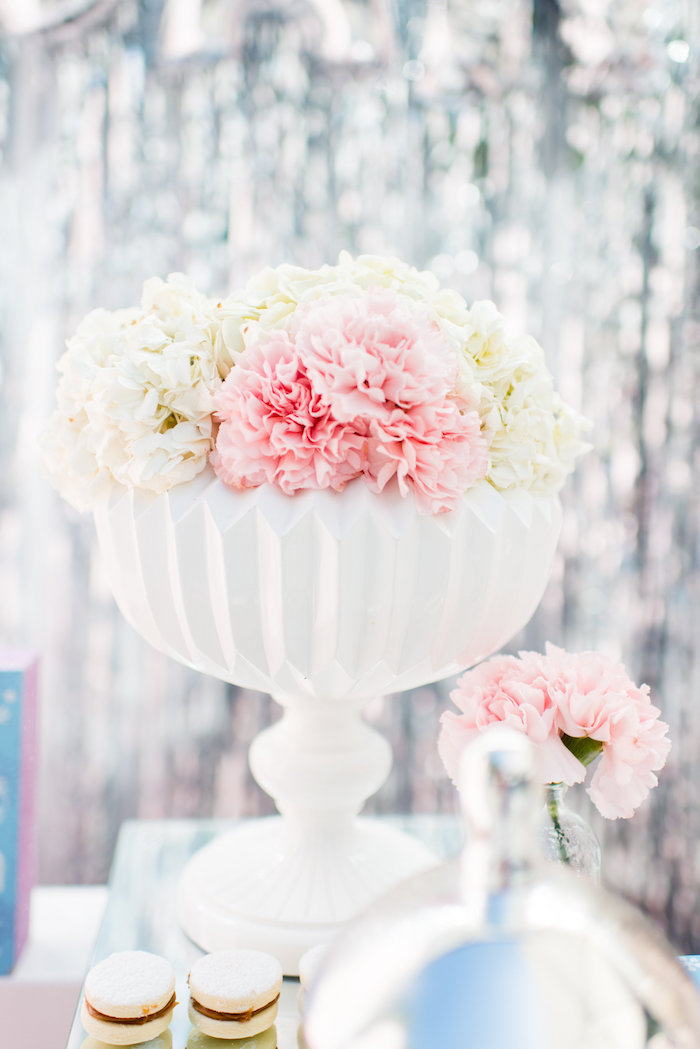 Blooms from an Elegant Frozen Birthday Party on Kara's Party Ideas | KarasPartyIdeas.com (32)