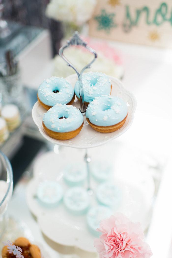 Doughnuts from an Elegant Frozen Birthday Party on Kara's Party Ideas | KarasPartyIdeas.com (30)