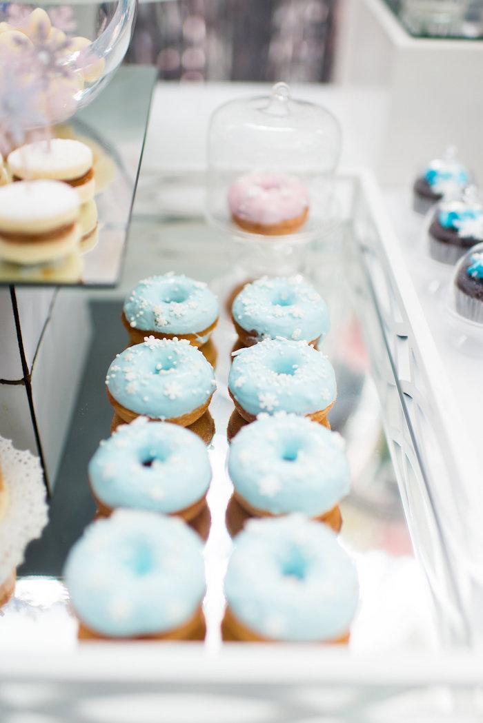 Doughnuts from an Elegant Frozen Birthday Party on Kara's Party Ideas | KarasPartyIdeas.com (28)