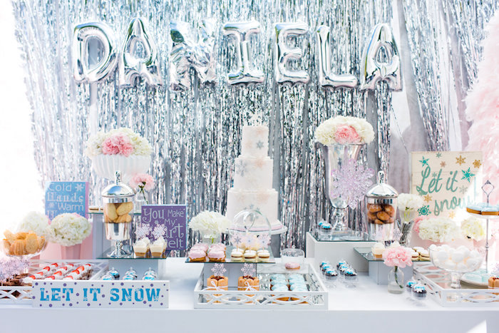 Dessert table from an Elegant Frozen Birthday Party on Kara's Party Ideas | KarasPartyIdeas.com (21)
