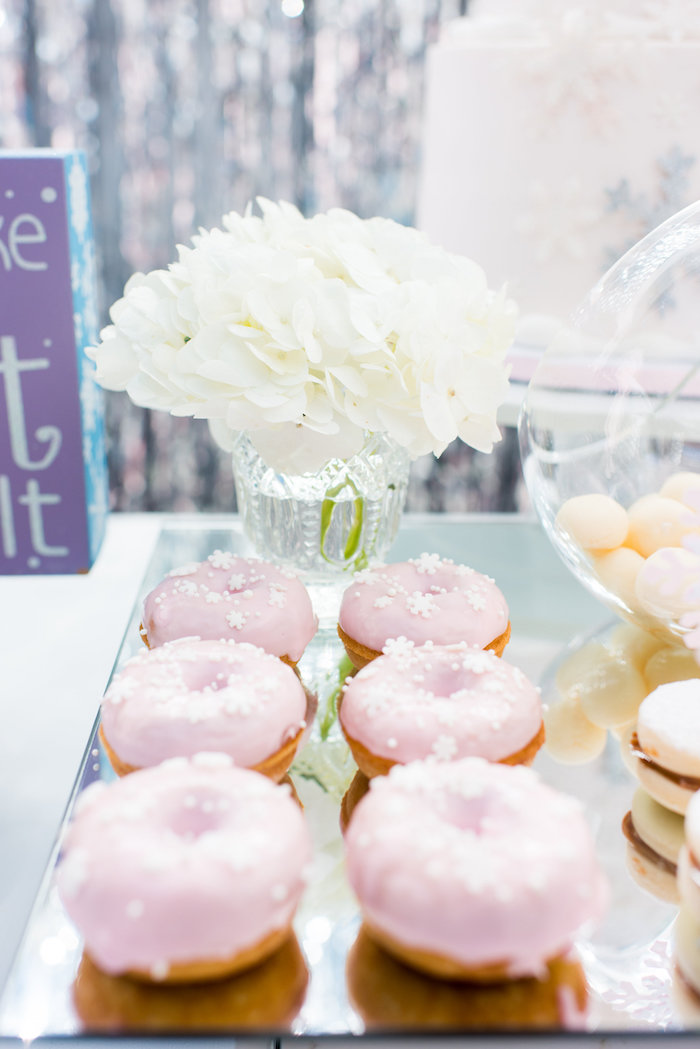 Doughnuts from an Elegant Frozen Birthday Party on Kara's Party Ideas | KarasPartyIdeas.com (20)
