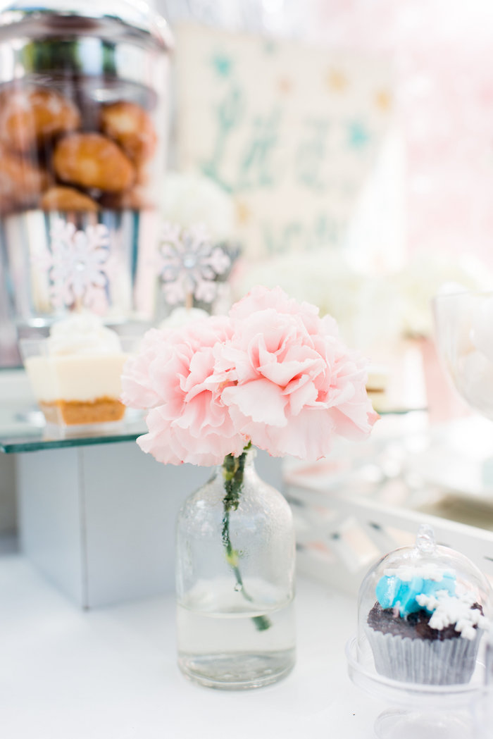 Blooms from an Elegant Frozen Birthday Party on Kara's Party Ideas | KarasPartyIdeas.com (18)