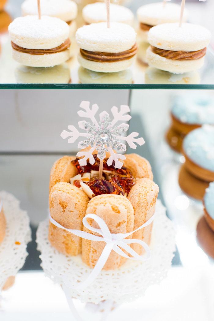 Mini cake from an Elegant Frozen Birthday Party on Kara's Party Ideas | KarasPartyIdeas.com (15)