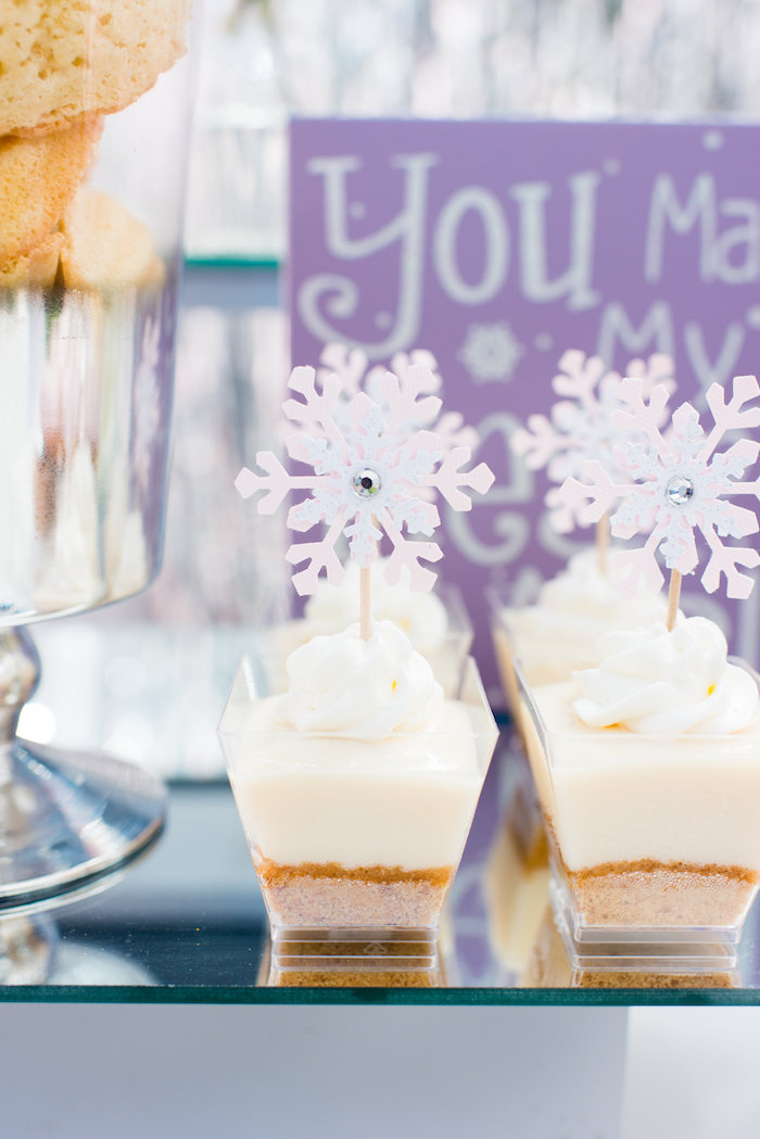 Dessert cups from an Elegant Frozen Birthday Party on Kara's Party Ideas | KarasPartyIdeas.com (14)