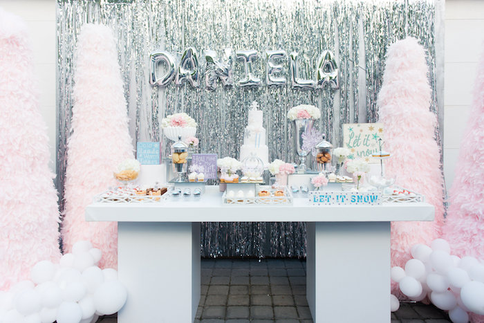 Elegant Frozen Birthday Party on Kara's Party Ideas | KarasPartyIdeas.com (9)