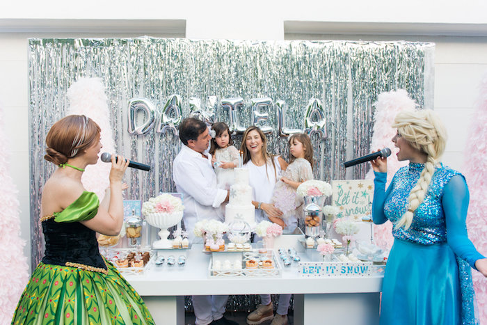 Dessert table from an Elegant Frozen Birthday Party on Kara's Party Ideas | KarasPartyIdeas.com (6)