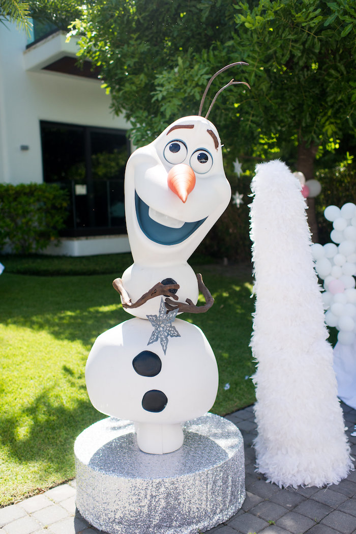 Olaf decoration from an Elegant Frozen Birthday Party on Kara's Party Ideas | KarasPartyIdeas.com (46)