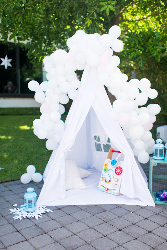 Winter tent from an Elegant Frozen Birthday Party on Kara's Party Ideas | KarasPartyIdeas.com (45)