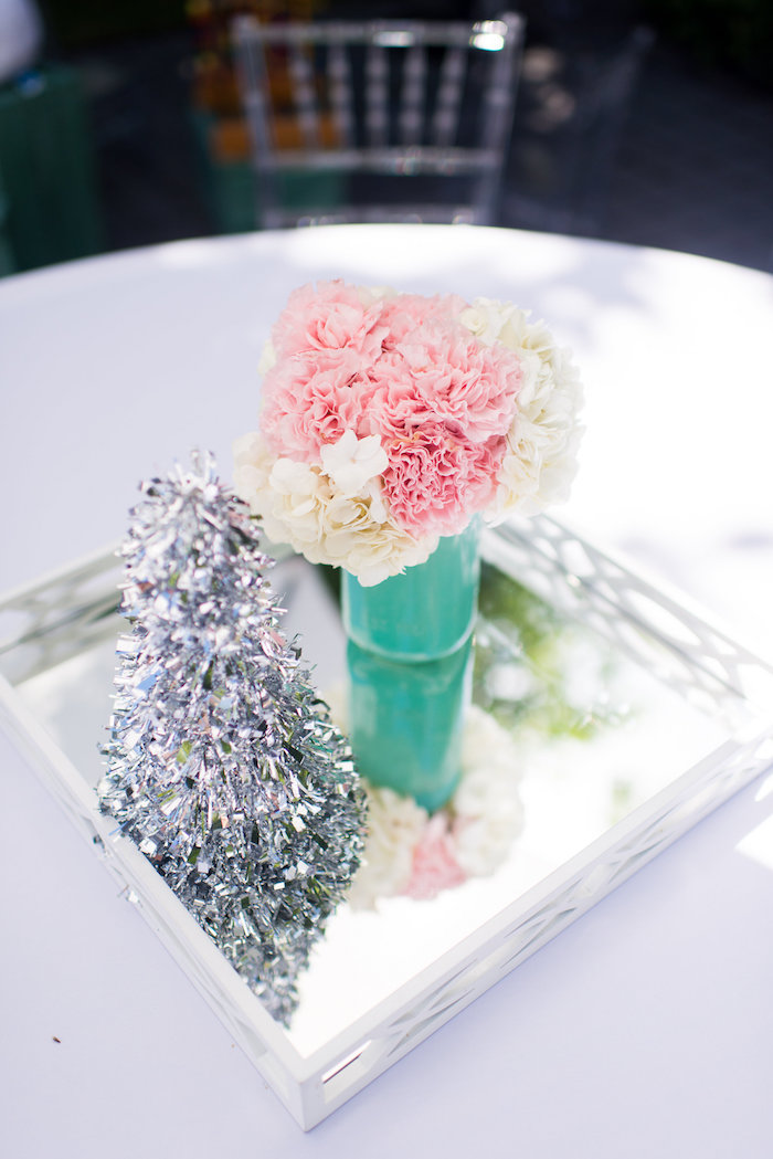 Guest table centerpieces from an Elegant Frozen Birthday Party on Kara's Party Ideas | KarasPartyIdeas.com (42)