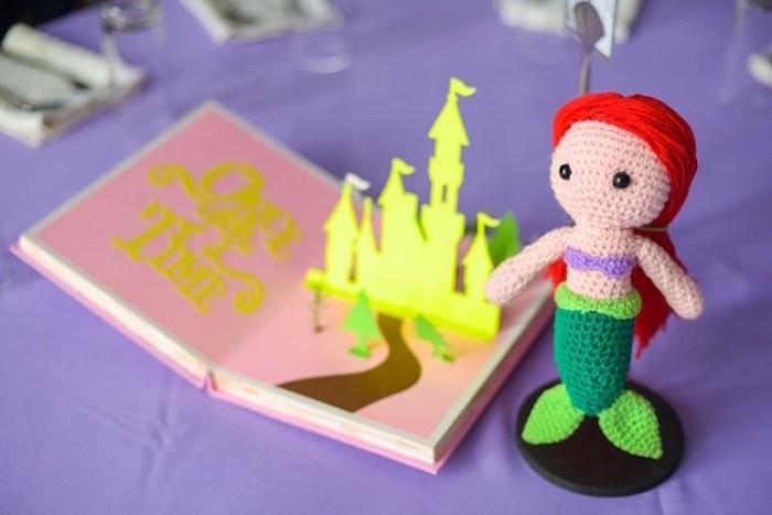 Crocheted Princess Ariel from a Fairytale Princess Birthday Party on Kara's Party Ideas | KarasPartyIdeas.com (20)