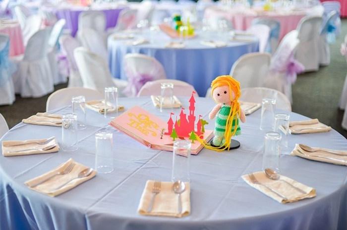 Guest table from a Fairytale Princess Birthday Party on Kara's Party Ideas | KarasPartyIdeas.com (36)