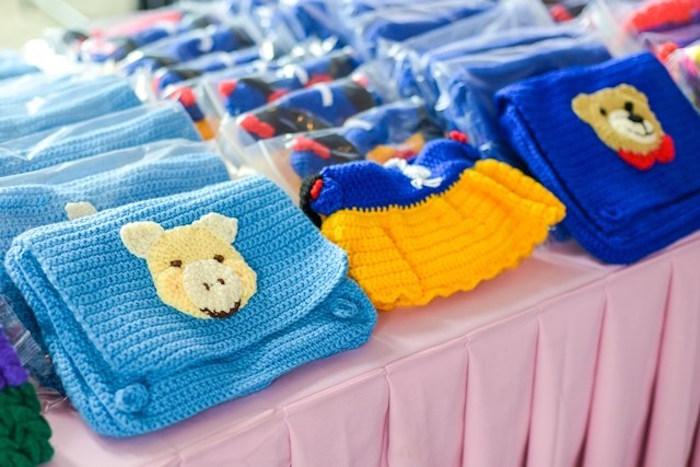 Crocheted favor bags from a Fairytale Princess Birthday Party on Kara's Party Ideas | KarasPartyIdeas.com (6)