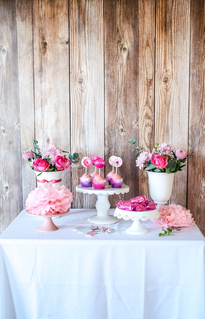 Floral Mother's Day Party with Free Printables on Kara's Party Ideas | KarasPartyIdeas.com (11)