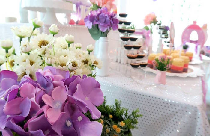 Blooms from a Floral Sofia The First Birthday Party on Kara's Party Ideas | KarasPartyIdeas.com (17)