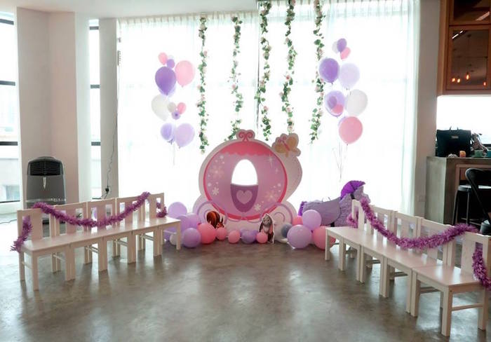 Royal Carriage from a Floral Sofia The First Birthday Party on Kara's Party Ideas | KarasPartyIdeas.com (14)