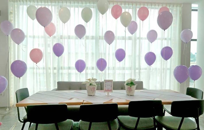 Party table from a Floral Sofia The First Birthday Party on Kara's Party Ideas | KarasPartyIdeas.com (25)
