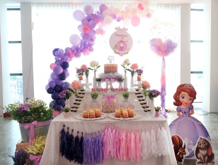 Floral Sofia The First Birthday Party on Kara's Party Ideas | KarasPartyIdeas.com (23)