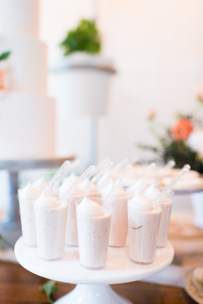 dessert shooters from a garden baby shower on kara 39 s party ideas