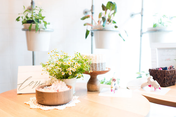 Party table from a Garden Baby Shower on Kara's Party Ideas | KarasPartyIdeas.com (11)