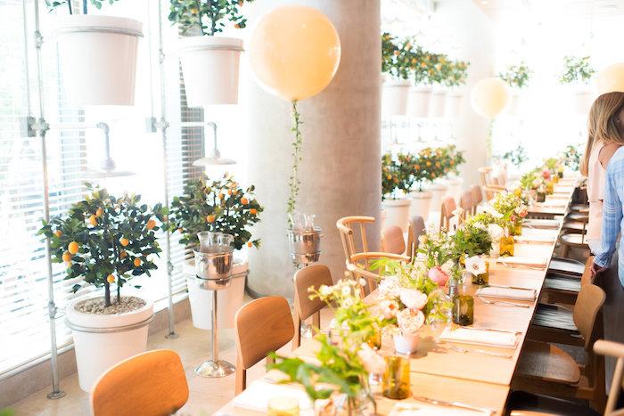 Garden guest tablescape from a Garden Baby Shower on Kara's Party Ideas | KarasPartyIdeas.com (6)