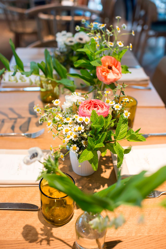 Garden floral arrangements from a Garden Baby Shower on Kara's Party Ideas | KarasPartyIdeas.com (36)