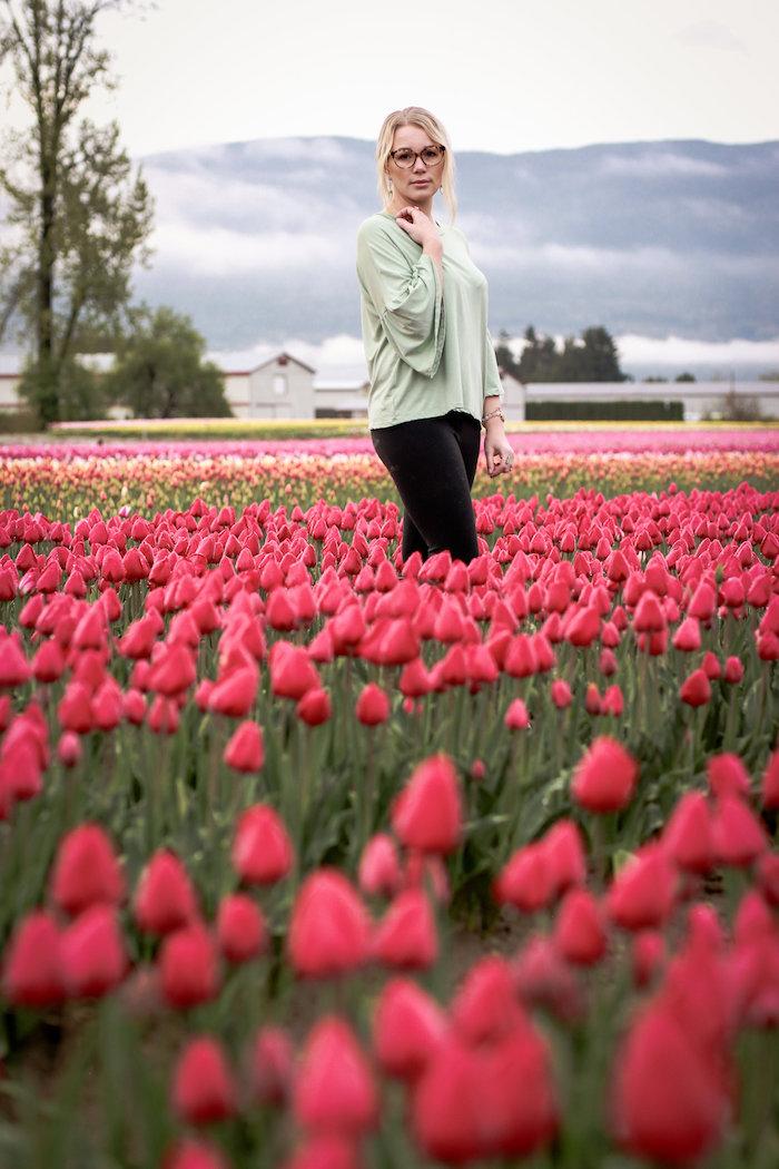 Tulip field from a Garden Breakfast Party on Kara's Party Ideas   KarasPartyIdeas.com (18)