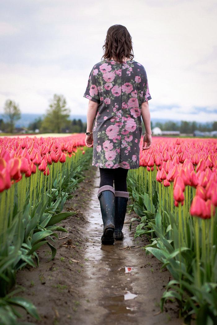 A walk through the tulips from a Garden Breakfast Party on Kara's Party Ideas   KarasPartyIdeas.com (13)