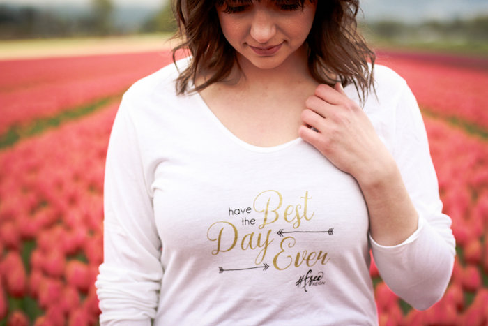 Have the Best Day Ever shirt from a Garden Breakfast Party on Kara's Party Ideas   KarasPartyIdeas.com (10)
