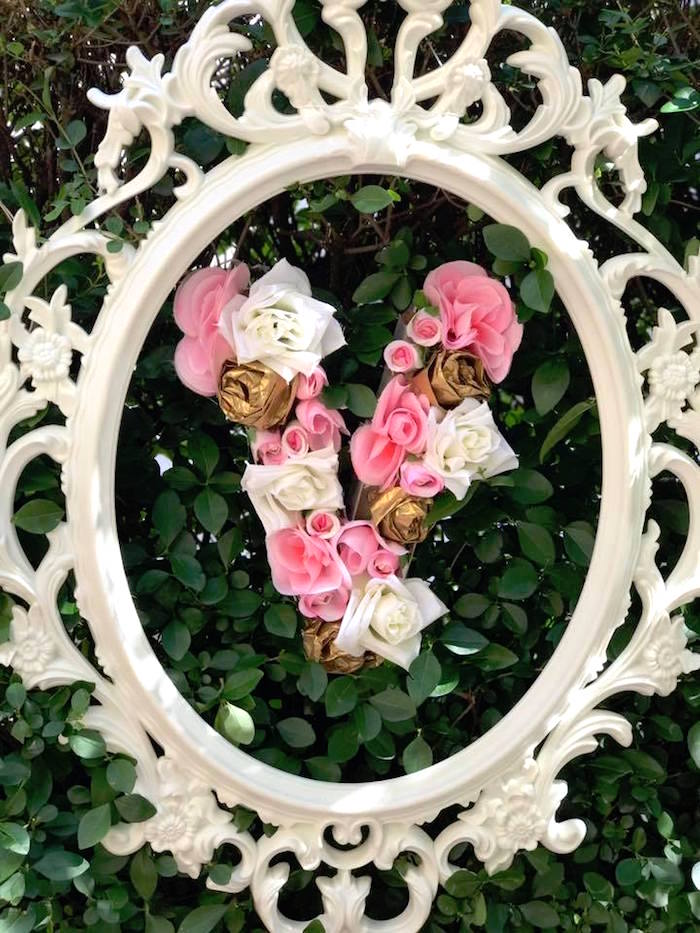 Flower letter from a Garden Princess Birthday Party on Kara's Party Ideas | KarasPartyIdeas.com (9)