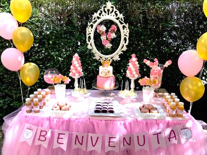 Dessert table from a Garden Princess Birthday Party on Kara's Party Ideas | KarasPartyIdeas.com (4)
