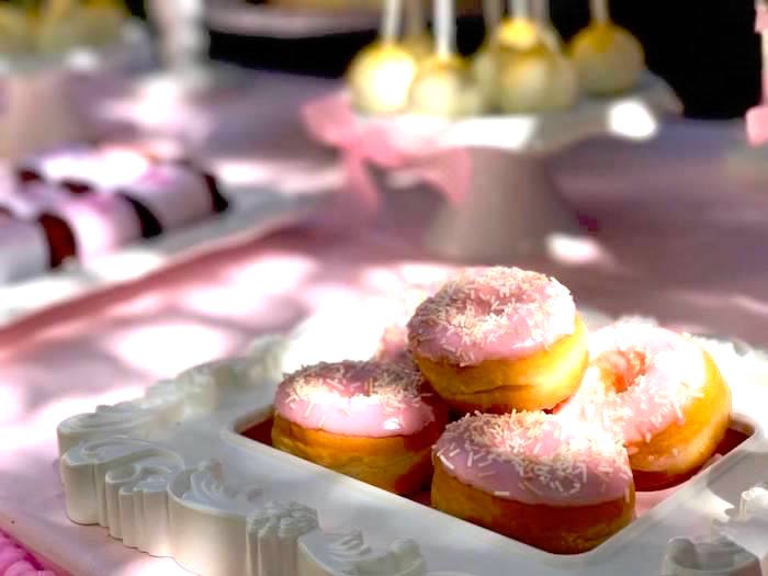 Doughnuts from a Garden Princess Birthday Party on Kara's Party Ideas | KarasPartyIdeas.com (18)
