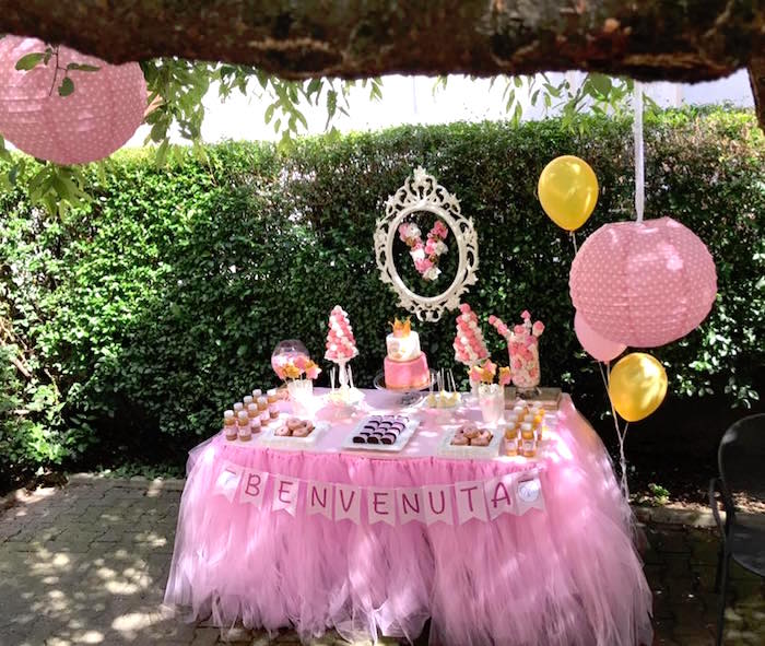 Full dessert table from a Garden Princess Birthday Party on Kara's Party Ideas | KarasPartyIdeas.com (17)