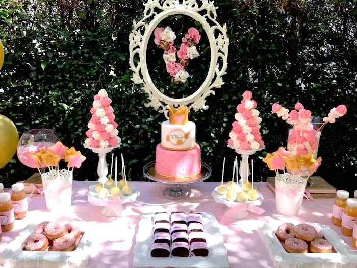 Dessert tablescape from a Garden Princess Birthday Party on Kara's Party Ideas | KarasPartyIdeas.com (14)