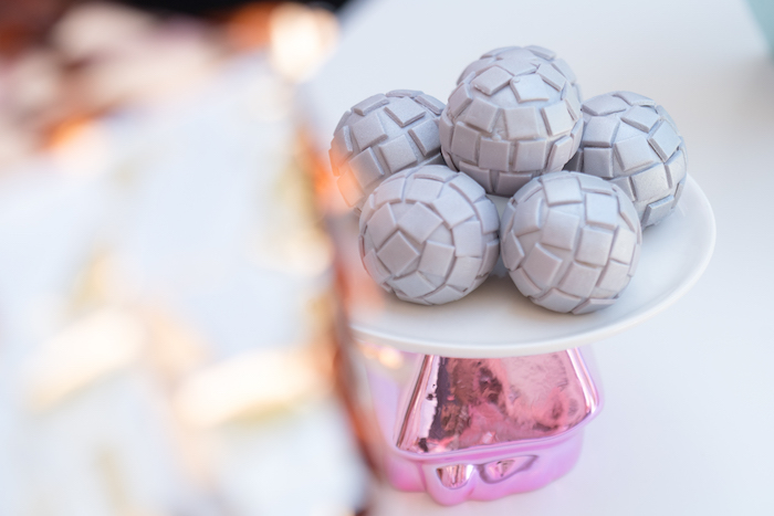 Disco Ball Cake Pops from a Glam Pop Star Birthday Party on Kara's Party Ideas | KarasPartyIdeas.com (24)