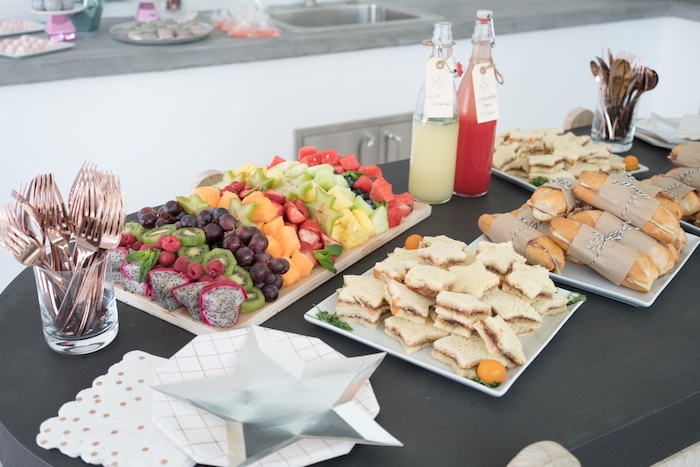 Food table from a Glam Pop Star Birthday Party on Kara's Party Ideas | KarasPartyIdeas.com (20)