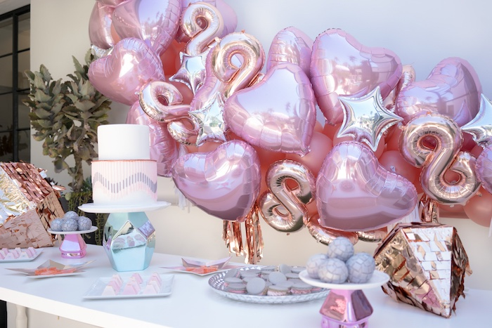 Dessert table from a Glam Pop Star Birthday Party on Kara's Party Ideas | KarasPartyIdeas.com (32)