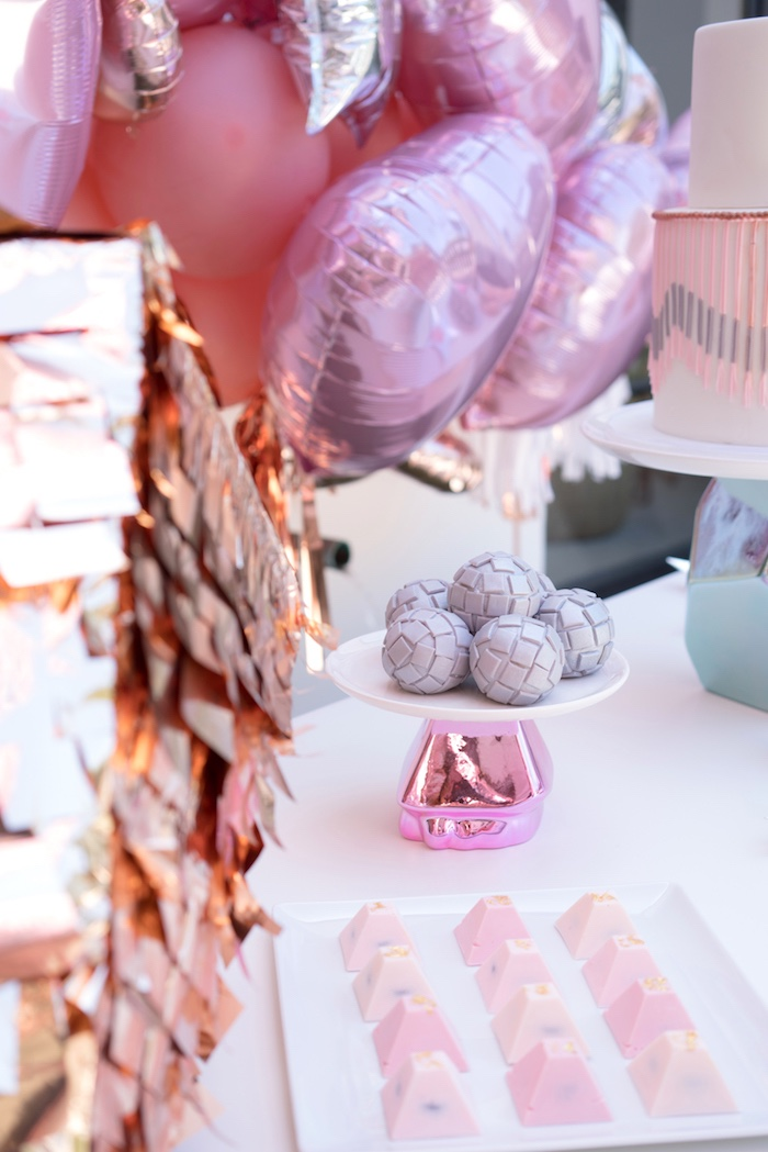 Disco ball cake pops from a Glam Pop Star Birthday Party on Kara's Party Ideas | KarasPartyIdeas.com (29)