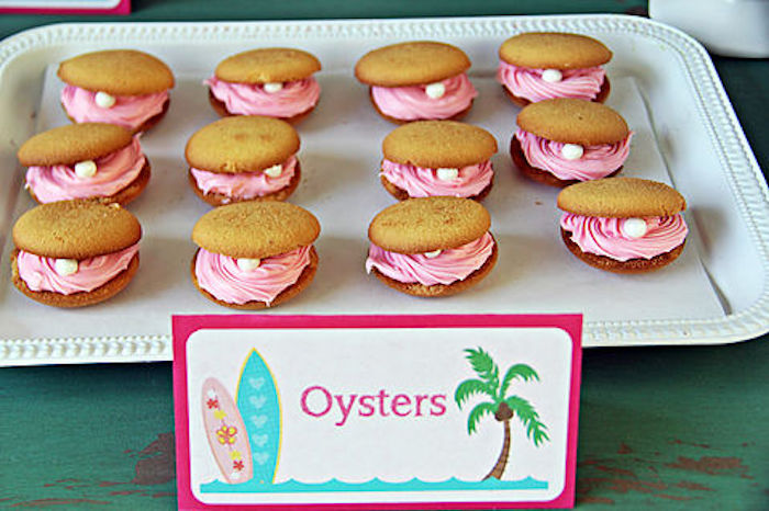 Oyster cookies from a Hawaiian Luau Birthday Party on Kara's Party Ideas | KarasPartyIdeas.com (13)