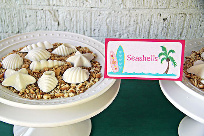 Seashell chocolates from a Hawaiian Luau Birthday Party on Kara's Party Ideas | KarasPartyIdeas.com (10)