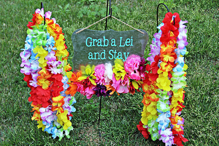 Leis from a Hawaiian Luau Birthday Party on Kara's Party Ideas | KarasPartyIdeas.com (24)