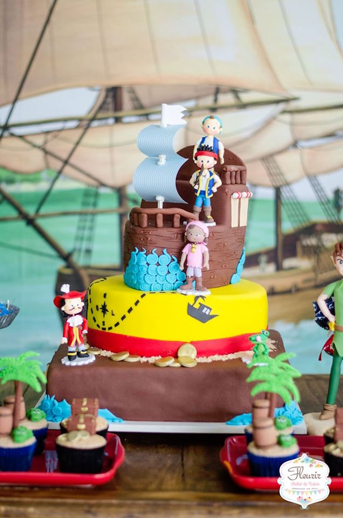 Peachy Karas Party Ideas Jake And The Neverland Pirates Birthday Party Funny Birthday Cards Online Inifodamsfinfo
