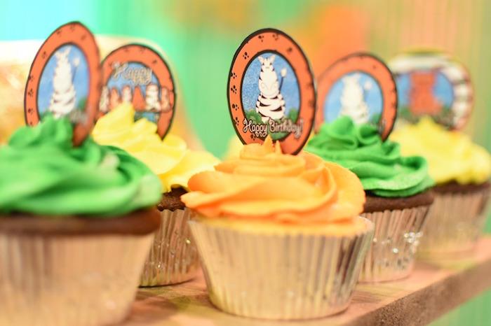 Zebra cupcake topper from a Jungle Safari Birthday Party on Kara's Party Ideas | KarasPartyIdeas.com (17)