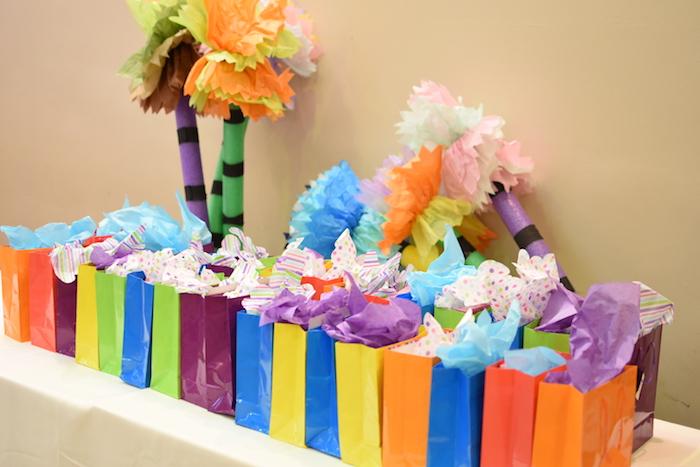 Favor table from a Jungle Safari Birthday Party on Kara's Party Ideas | KarasPartyIdeas.com (12)