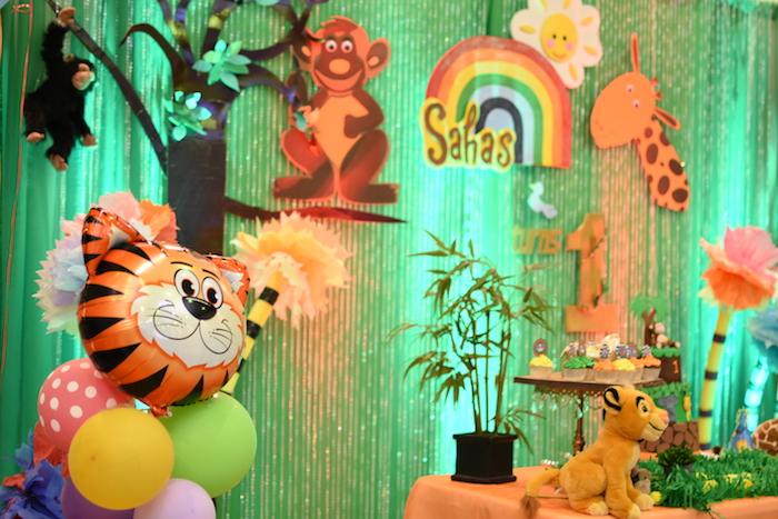 Backdrop from a Jungle Safari Birthday Party on Kara's Party Ideas | KarasPartyIdeas.com (10)
