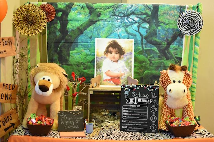 Highlight table from a Jungle Safari Birthday Party on Kara's Party Ideas | KarasPartyIdeas.com (26)