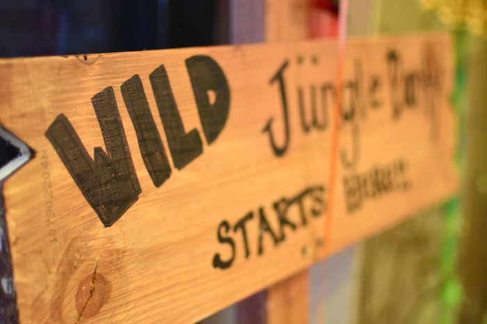 Wood sign from a Jungle Safari Birthday Party on Kara's Party Ideas | KarasPartyIdeas.com (25)