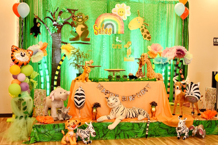 Karas Party Ideas Jungle Safari Birthday Party