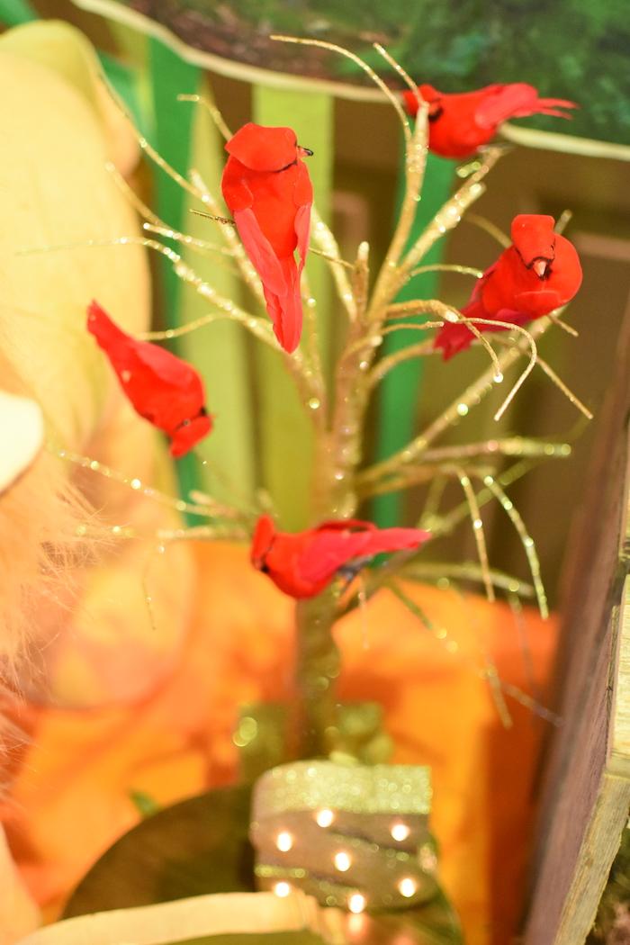 Tree of birds from a Jungle Safari Birthday Party on Kara's Party Ideas | KarasPartyIdeas.com (21)
